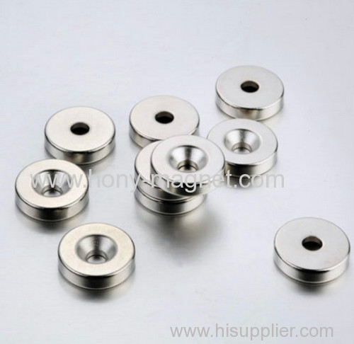 Strong Rare Earth Ring Magnets Countersunk Hole