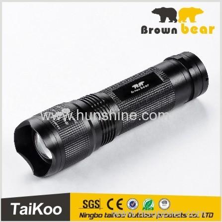 3 watt led aluminum telescopic zoom lumen flashlight