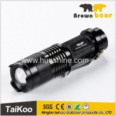 q5 adjustable focus clip led flashlight