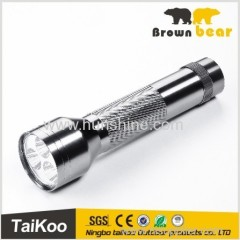 gray aluminum silver 6 led flashlight