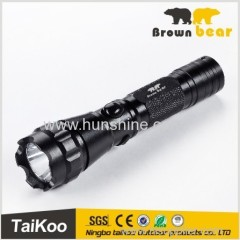 mini aluminum rechargeable flashlight pressure switch led flashlight