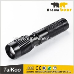 aluminum t6 1280lm telescopic geepas rechargeable led flashlight