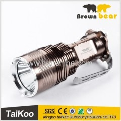 t6 hand-held power style flashlight with 4*18650 batteries