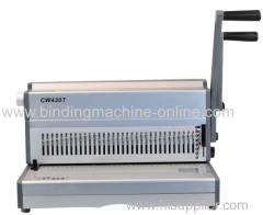 Heavy duty office manual wire binding machine CW430T