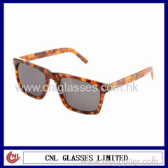 China Factory Wholesale Square Frame Tortoise Color Sunglasses