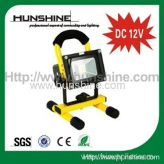 factory price hot sale DC 12V 10w rechargeable led flood light