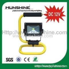 DC 12V 10w rechargeable flood light
