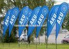 Beach Teardrop Flag Banner For Trade Show Display 3.8m , 2.25m , 2.75m , 3.1m Height