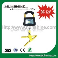 DC 12V 10w brightest led flood light with clamp connector