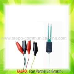 4-pole test cord with test plug to alligator clip for MDF terminal block
