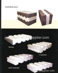 EPS polystyrene mold making eps block inset with concrete block