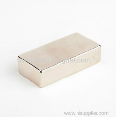 Gold plated Block NdFeB permanent neodymium Magnet