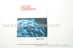 Varnish UV coating cover logistics company thread sewn softcover book