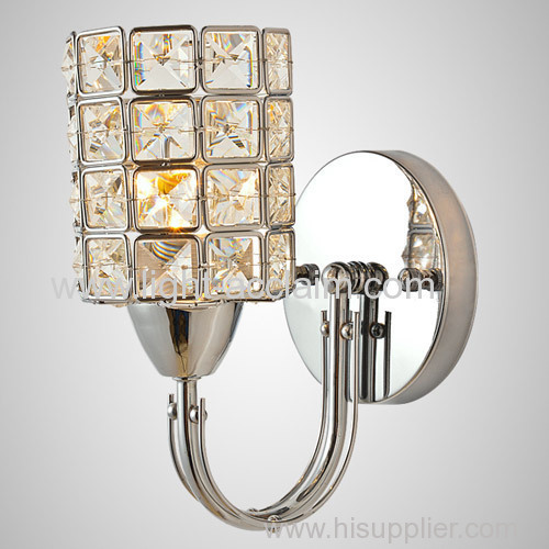 The modern Home Furnishing lighting lamp four square crystal lamp crystal wall sconce light fixture