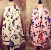 fashion print in high quality wool scarf