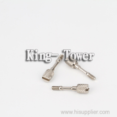 nickel plated slot pan head shoulder screw for equipment