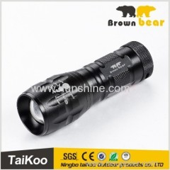 high power 5 xpe mini flat led flashlight