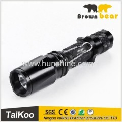 3w q3 zoom water resistant led flashlight