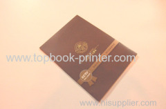 pharmaceutical company gold stamping tri-fold pamphlet book