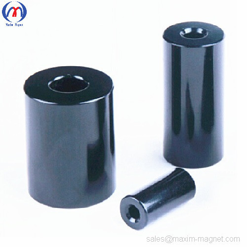 Pump motor magnet tube diametrically magnetized Neodymium-Iron-Boron