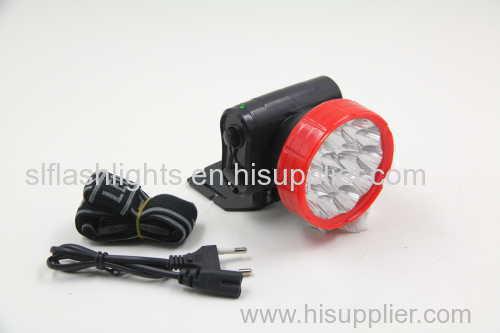 15LED plastic rechargeable LED head flashlight