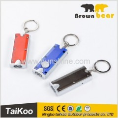 aluminum keychain flashlight with 0.5w