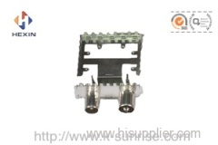 iec male&female connector with shielding cans