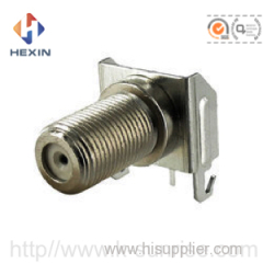 f connector with metal shield