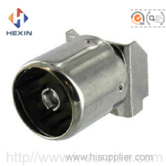IEC connector with metal shield