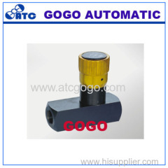 Hydraulic valves Check restrictive valve