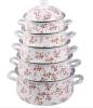 Kitchenware Gorgeous Flower Decal Enamel pot