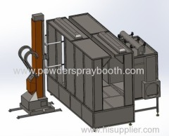 Pass Through Automotive Powder Spray Booth