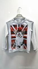 80%cotton 20%polyester Sublimated print T-shirt