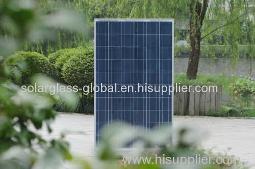 50w anti-reflective tempered solar panel glass