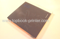 Lint cloth cover FSC uncoated paper softcover book with flaps