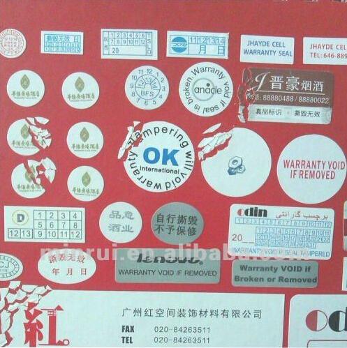 warranty destructible qc or qa calibration void seal stickers from china manufacturer shenzhen. Black Bedroom Furniture Sets. Home Design Ideas