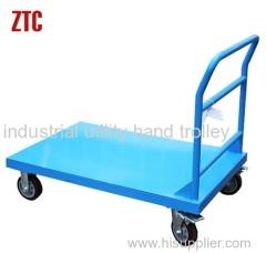 industrial metal utility platform hand trolley