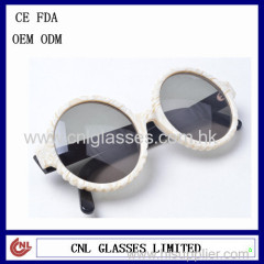 Round frame designer wholesale price UV 400 & CE FDA sunglasses