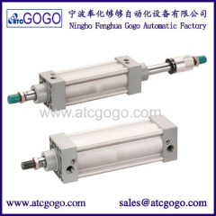 SI air cylinder/aluminium standard pneumatic cylinders stroke adjustable air cylinders pneumatic components