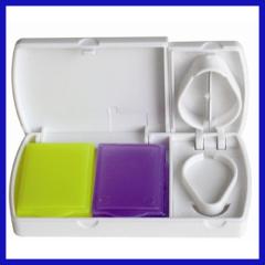 Manual type plastic pill box 3 case