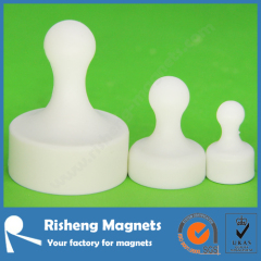 Strong Neodymium Magnetic Push Pins Colored White Board Magnet