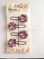 creative button shape wooden bookmark paper clips push pins