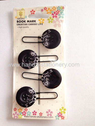 creative buttonshapewoodenbookmark paper clips push pins