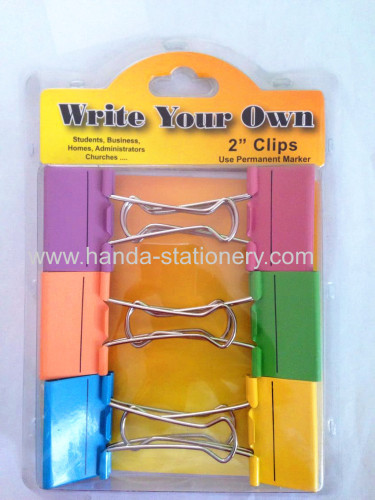 Everybody loves colorful metal cute binde clips