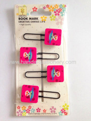 creative button shape metal bookmark paper clips push pins