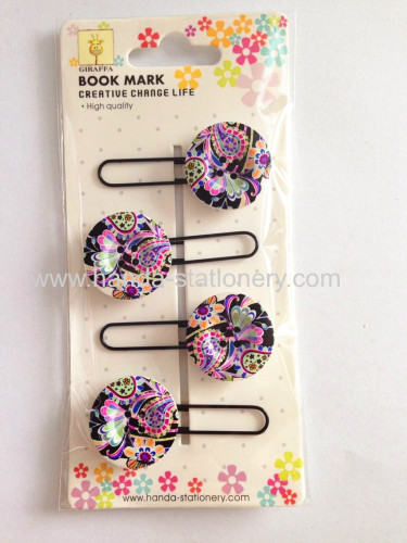 creative wolf shape metal bookmark paper clips push pins