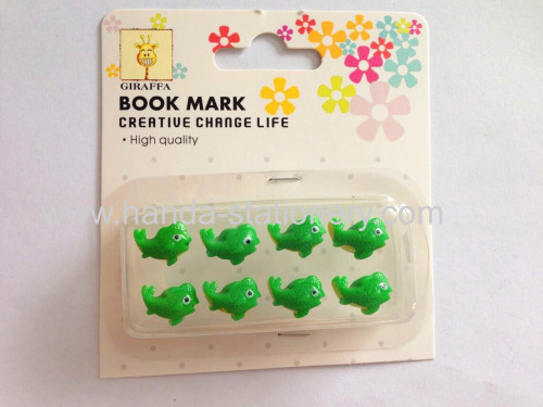 creative fish shape resin push pins