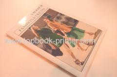 Brillant laminé selle de couverture de papier brillant art couture impression de magazines de vêtements softback sur demande