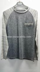 100%cotton AB twist yarn jersey mens T-shirt