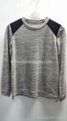 100%cotton AB twist with lurex yarn jersey mens T-shirt